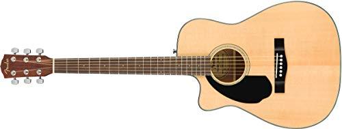 Fender CC-60SCE Left Handed Natural Solid Top Concert Acoustic Electric Guitar