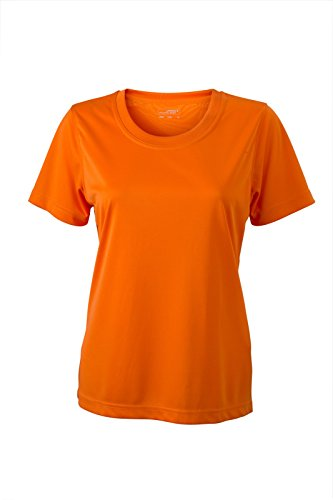 James & Nicholson - Camiseta - Manga corta - para mujer naranja Large