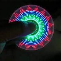 DollsnKings Fidget Spinner Hand Toy with LED Light- 20 Assorted Design Lights