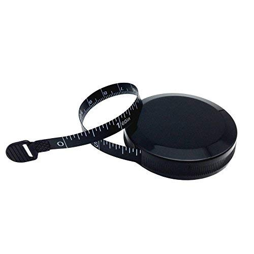 Tiny Dog Ribbon - Tape Measure for Body Measuring Tape for Body Cloth Measuring Tape for Sewing Tailor Fabric Measurements Tape (Retractable Dual Sided Black)