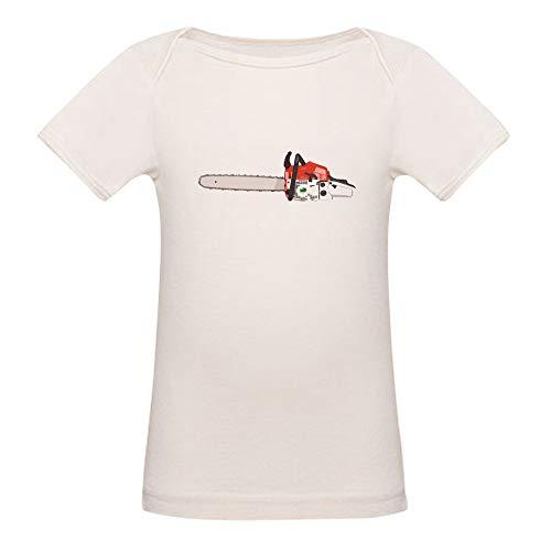 (CafePress Chainsaw Orange with Green Tree T Shirt Organic Cotton Baby T-Shirt)