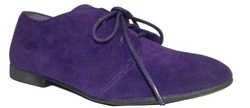 Breckelles Sandy-31 Basique Classique Lacets Chaussure Plate Oxford, 7 B (m) Us, Violet-31w, 7 C / D Us