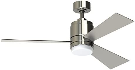 Pylon 48-in Brushed Nickel Downrod Mount Indoor Ceiling Fan