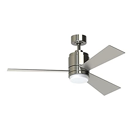 Amazon pylon 48 in brushed nickel downrod mount indoor ceiling pylon 48 in brushed nickel downrod mount indoor ceiling fan with led light kit and aloadofball Gallery