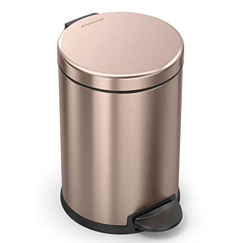 simplehuman Rose Steel Round Trash product image