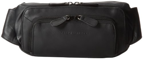 derek-alexander-three-zip-fanny-pack-organizer-black-one-size