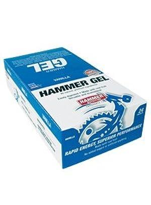 Hammer Gel Rapid Energy Fuel, Single Gel Pouch, 24-Pack Box, Vanilla by Hammer Gel