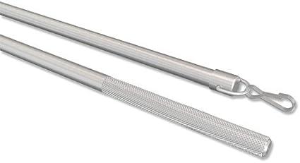 Simply Silbergrau aus Aluminium f/ür Gardinen//Vorh/änge 75 cm INTERDECO Schleuderstab//Gardinenstab 1 Set