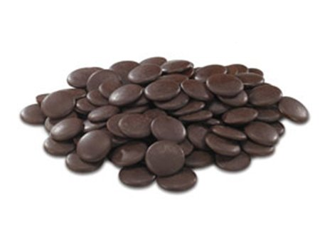 Cacao Barry Dark Extra-Bitter Guayaquil Chocolate, Pistoles 64% - 1 Pound - Cocoa Extra Dark Chocolate