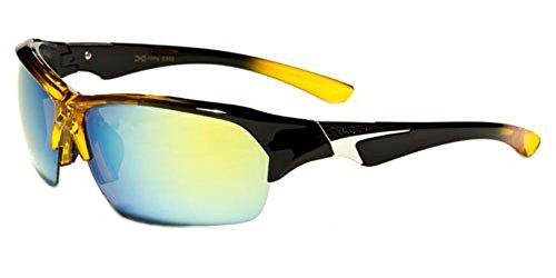 X-Loop 2014 New Men's Women's Triathlon Cycling Biking Sports Sunglasses-XL7845 (Black Yellow Revo - Sunglasses 2014 Hot