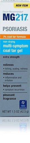 (2 pack) -MG217 psoriasis Multi-Symptôme Coal Tar Gel, 1,5 oz chacun