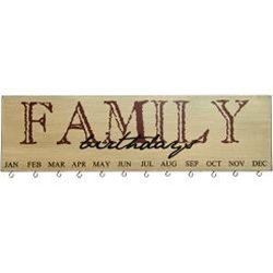 Heart of America Family Birthday Calendar Burgundy