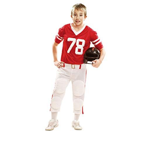 My Other Me Me – Disfraz de jugador de rugby para niño, 5-6 años, color rojo (Viving Costumes 202111)
