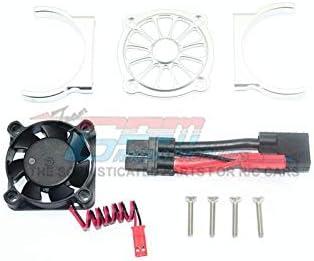GPM Traxxas E-Revo 2.0 VXL Brushless (86086-4) Upgrade Parts Aluminium Motor Heatsink with Cooling Fan - 1 Set Silver