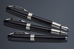 visconti-michelangelo-blue-black-white-gold-trim-rollerball-pen