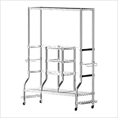 Description: The DELUXE SafeRacks Golf Equipment Organizer Rack is our standard golf rack with more storage space for your extra gear!  The DELUXE Golf Equipment Organizer includes a top shelf, 5 accessory hooks, and additional side attachmen...