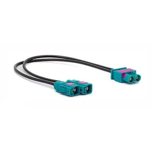 femmina carav 13-021 auto radio stereo antenna adattatore doppio-fakra maschio connettore spina - 2 x fakra-z
