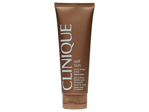 Sun Daily Body Lotion - Clinique Self Sun Body Tinted Lotion for Women, Light/Medium, 4.2 Ounce