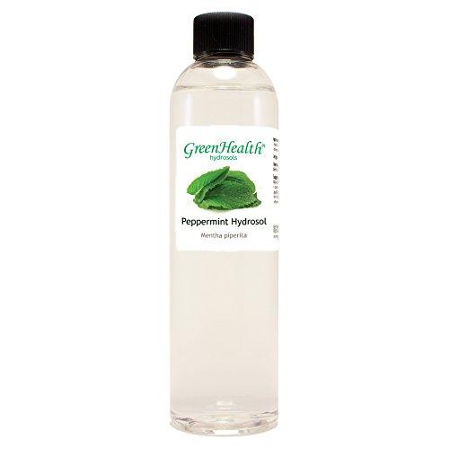 Peppermint Hydrosol - 8 fl oz Plastic Bottle w/Cap - 100% pure, distilled from essential oil