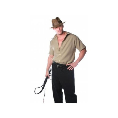 Jones Hat And Whip Indiana Adult (SAFARI SHIRT 'Indiana Jones' Adult)