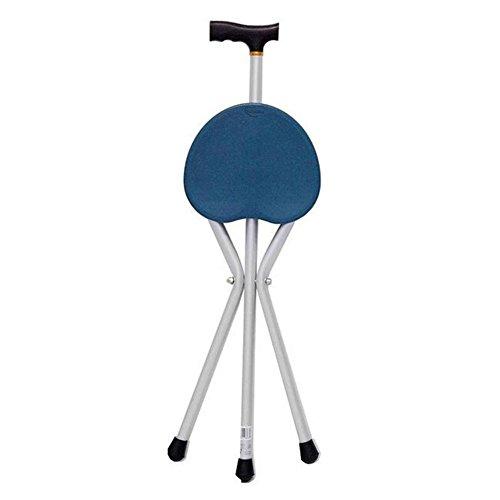 LPY-YC8101 Crutch Folding Seat Aluminum Alloy Walking Sticks with 3 Leg Base Seat Cane (Walking Stick & Chair - Folding Crutches Ergonomic