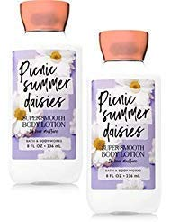 Bath and Body Works 2 Pack Picnic Summer Daisies Super Smooth Body Lotion. 8 Oz