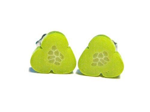 Fresh Pickle Slice Earrings - Tiny Food Jewelry