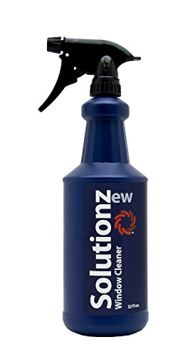 (New Solutionz Window & Glass Cleaner - Safe for Mirrors, Windshields and Tinted Windows - Professional Grade Formula That Removes Dirt & Grime While Leaving Glass Streak-Free and Shiny - Ammonia-Free)