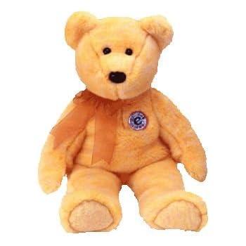 Amazon.com  TY Beanie Buddy Bear Sunny the e-Beanie Golden Yellow ... 8e3b7cf1423a
