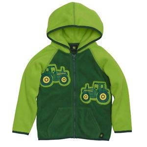 John Deere Boys Fleece Tractor Jacket 3T Lime Green