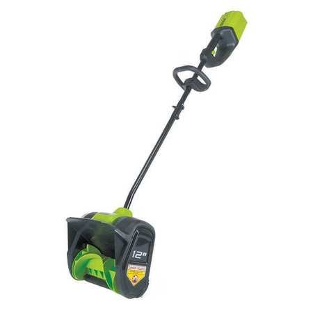 Snow Shovel, 36'' L, 12'' W, D-Grip, 80V by GREENWORKS PRO