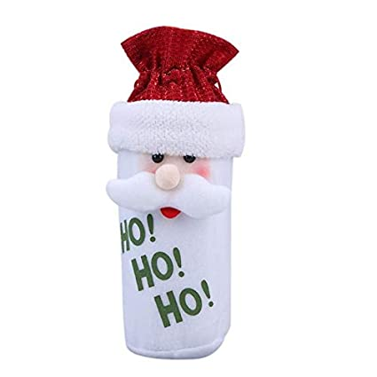 Envio Gratis - Santa Claus Snowman Elk Christmas Decoration Wine Bottle Cover Bags Dinner Table Navidad