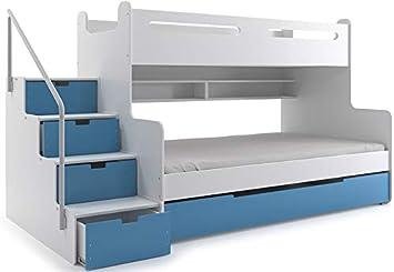Drei Etagenbett : Etagenbett max für drei kinder cm und farbe