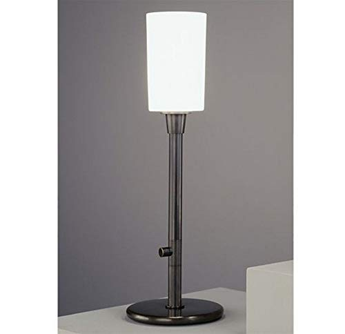 Patina Torchiere - Robert Abbey Z2069 Lamps with Frosted White Cased Glass Shades, Deep Patina Bronze Finish
