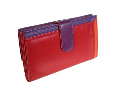 Señora Cal Color Medidas Fuster Rojo 9x16x3 Y Piel De Billetero Para Monedero Lila Cm 0qqxIrg