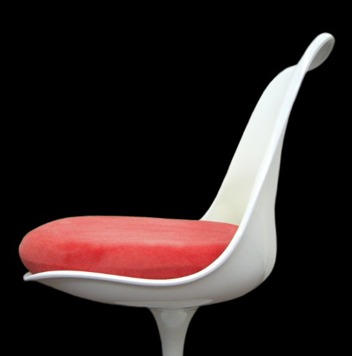 (Slip-on Cushion Cover for Saarinen Tulip Side Chair (Red))