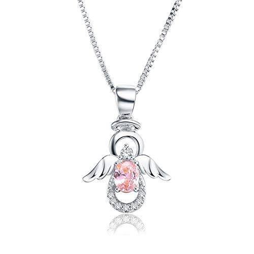 SKA Jewelry Angel Necklace for Girls Women Pink