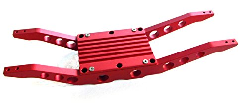 (RC Raven E-Maxx 3903 or 3908 Red anodized aluminum bottom braces FREE CENTER TRANNY COVER)