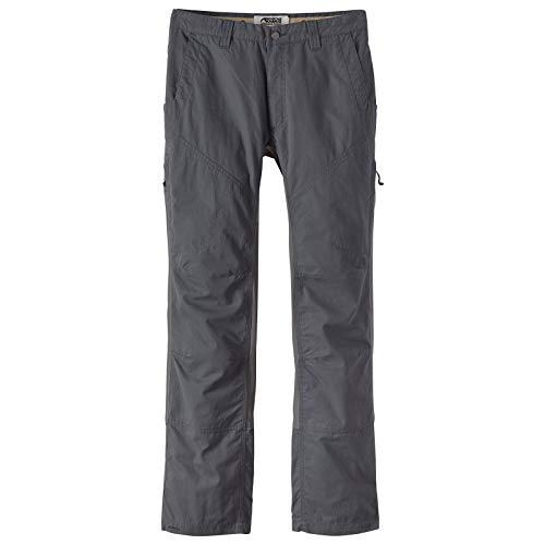 Mountain Khakis Mens Original Trail Pant Classic Fit: Sun Protection Hybrid Outdoor Casual Hiking Pant, Gunmetal, 36W 34L