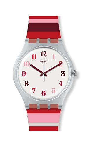 selezione premium 32232 e8b09 Swatch Orologio Analogico Quarzo Unisex Adulto con Cinturino ...