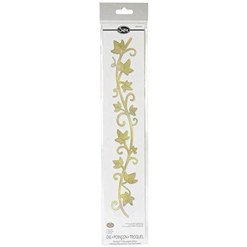 (Sizzix 658441 Sizzlits Decorative Strip Die, Vine #2 by Eileen Hull, Yellow)
