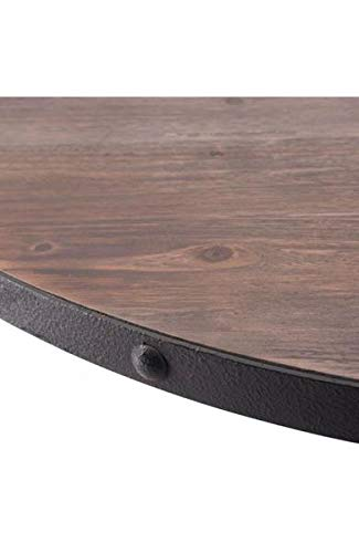 Black & Fir Wood 42'' Circular Meeting Table by Unknown (Image #1)