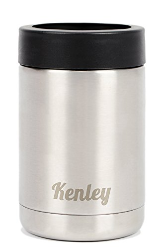 Kenley Beer Can Cooler Insulator - Holder Colster for Cans Drink Beverage Soda - Stainless Steel - Double Wall Vacuum Insulation