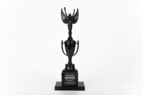 [Easy, Tiger Winged Victory Trophy, Black] (Resin Football Trophies)
