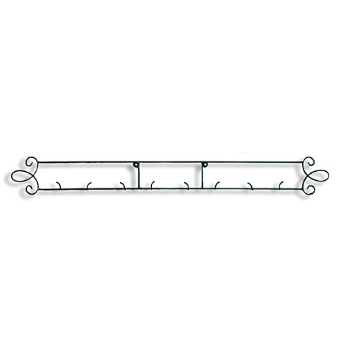 "Augusta Black Horizontal Plate 44.75""W Wall 4-Place Rack"