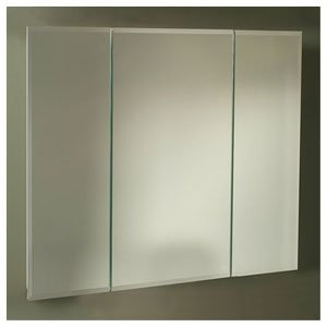 Horizon Tri View Recessed Cabinet with Beveled Mirror Width: -