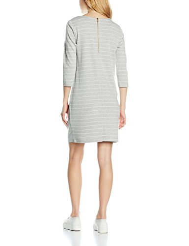 VILA CLOTHES 14033863, Vestido Para Mujer Gris (Light Grey Melange Stripes:SNOW WHITE)
