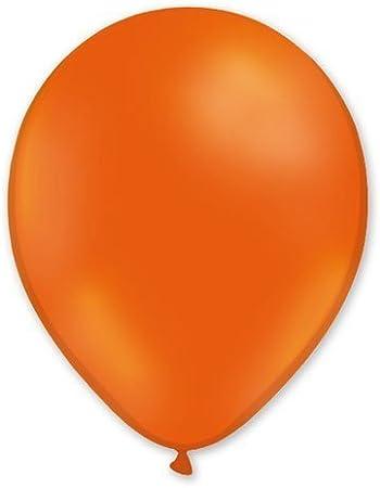 Lote de globos 100 unidades, color naranja, 100% látex, 30 cm ...