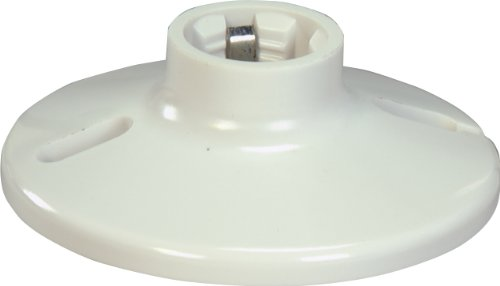 Eaton S1174W-SP-L 660-Watt, 250-Volt Plastic One Piece Keyless Switch Ceiling Receptacle Lamp Holder, White - Lamp Receptacle