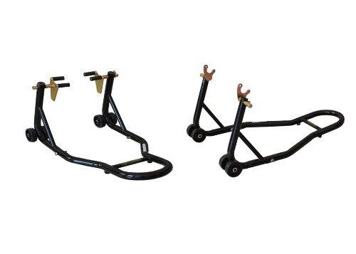 - ALPHA MOTO Black Motorcycle Stand Front Fork Lift and Rear Swingarm Spool Wheel Lift Stand Combo Stands Sport Bike Fit for Suzuki Yamaha Honda Kawasaki YZF R1 R6 ZX 6R 7R 9R CBR 600RR 1000RR GSXR